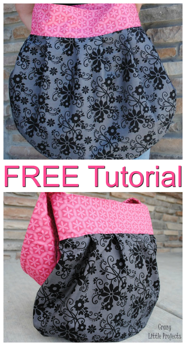 Sling Tote Purse FREE sewing pattern