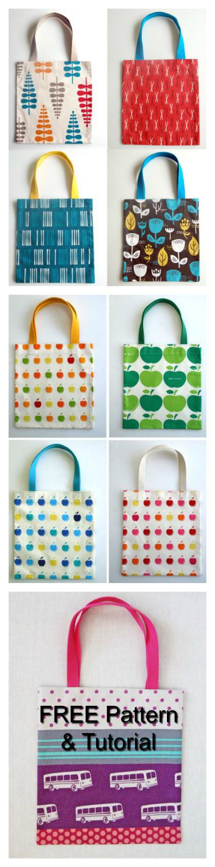 The Twenty Minute Tote Bag FREE sewing pattern & tutorial.
