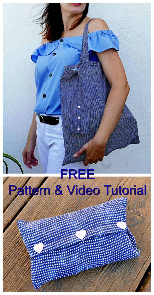 Foldable Shopping Bag FREE sewing pattern & video tutorial