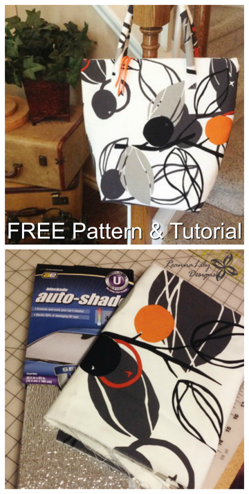 Insulated Grocery Tote Bag FREE sewing pattern & tutorial