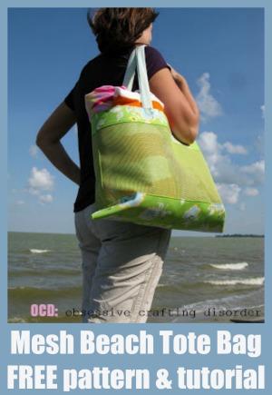 Mesh Beach Tote Bag - FREE pattern & tutorial