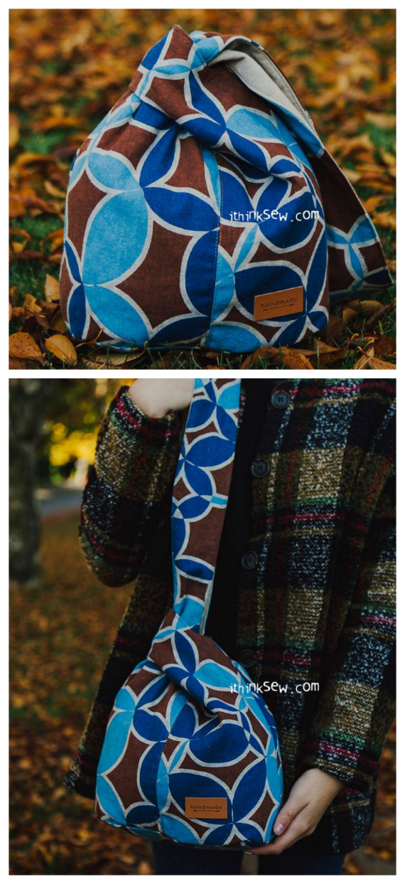 Suki Japanese Knot Bag - sewing pattern in 2 sizes