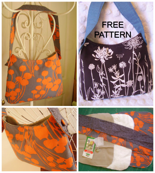 One Hour Tote Purses FREE sewing pattern & tutorial