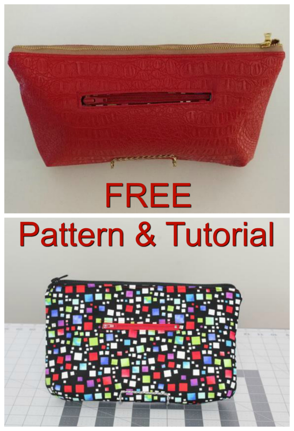 Angie Clutch FREE sewing pattern & tutorial