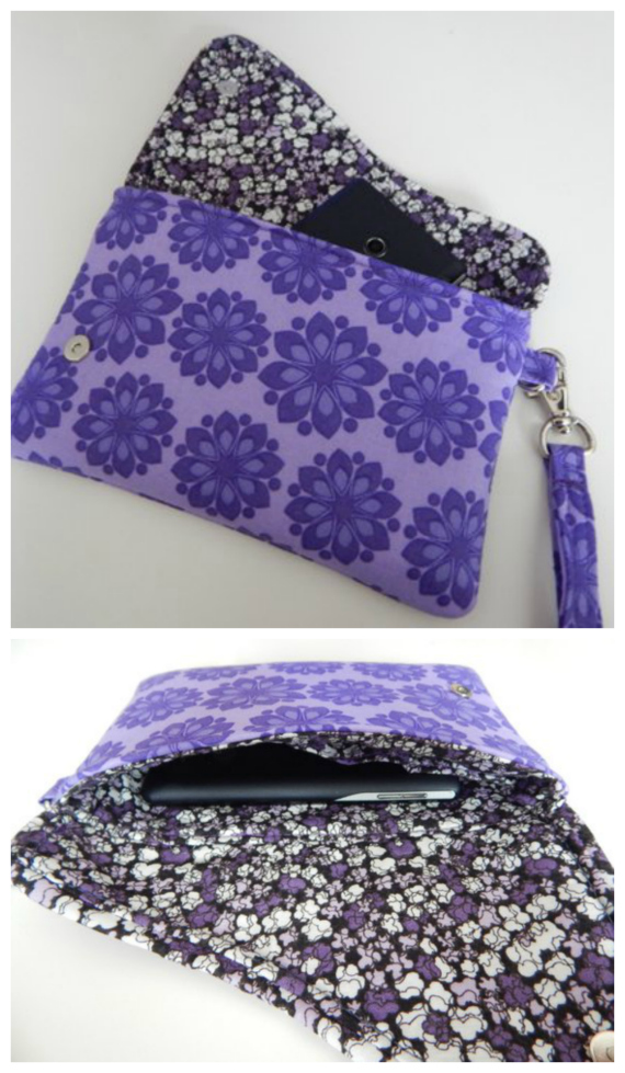 This cute and useful wristlet bag is named Little Cloud. It's a quick and easy scrap buster project aimed at the advanced beginner sewer and should take approximately 2 to 3 hours+ to complete.