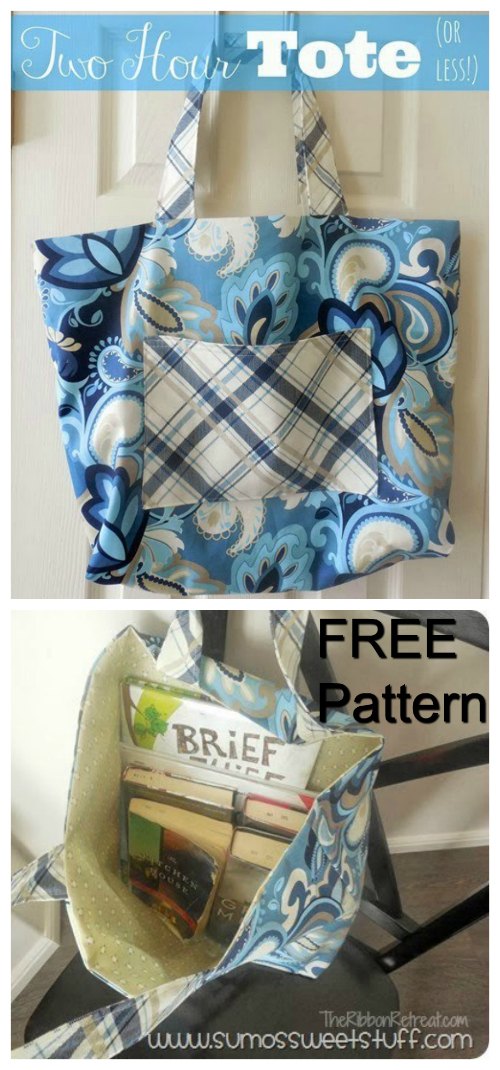 Two Hour Tote (or less) FREE sewing pattern