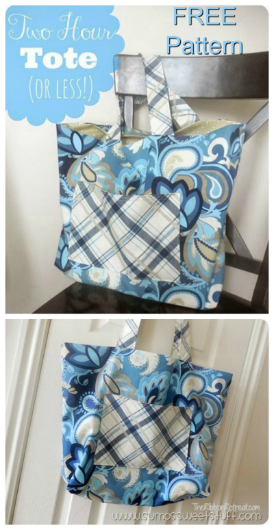 Here at Sew Modern Bags, we like to bring you bag patterns from the very simple all the way up the scale. This FREE pattern with tutorial can be made in under two hours and that includes all the cutting and everything. It's a simple bag that comes together quickly. It even includes a lovely lining so that you can make the perfect tote bag for trips to the beach, park, library or wherever you want to go.