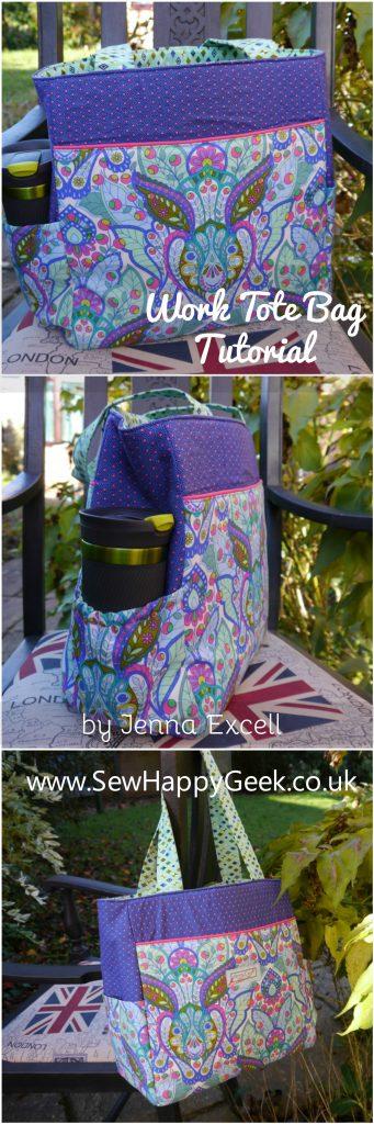 Take It To Work Tote Bag FREE sewing pattern & tutorial