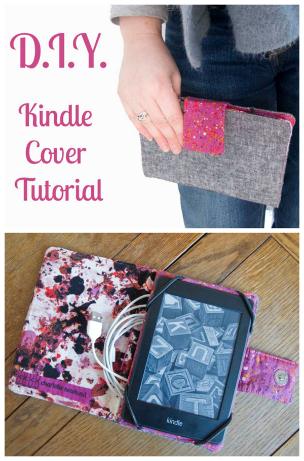 "If you have a Kindle Paperwhite or a tablet and you want to make your own holder or cover then here we have a great FREE pattern and tutorial. This holder was designed to fit a Kindle Paperwhite (6 5/8"" by 4 5/8"") but can be adapted for other tablets/readers. Just measure your device and adjust the dimensions as necessary."