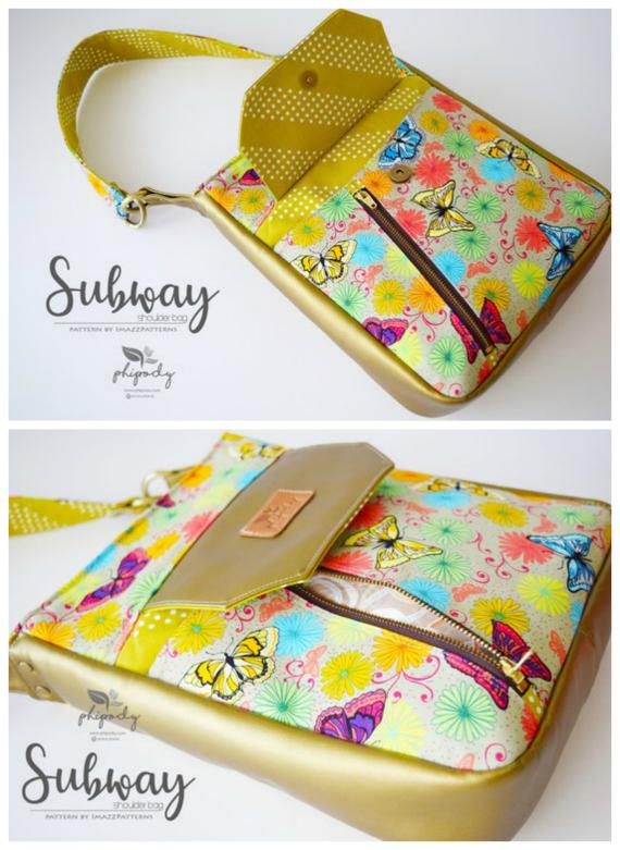 Subway Cross Body Bag sewing pattern