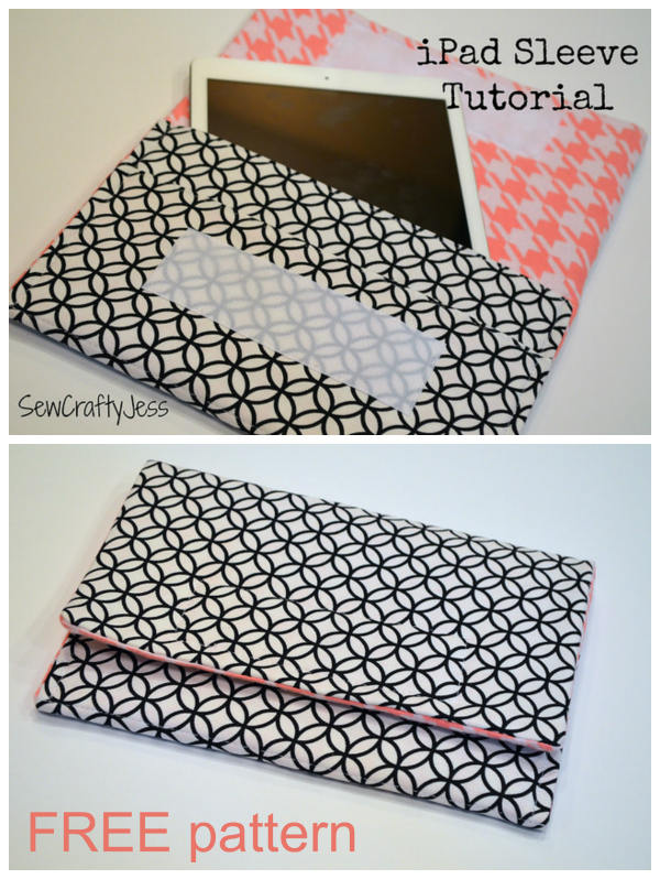Tablet sleeve FREE sewing pattern