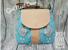 The Girl Next Door is a simple, easy to make, adorable handbag/shoulderpurse bag suitable for a walk in the park or shopping in town. The practical part of this bag is also its main feature - a large concealed front pocket. Unless you look very closely you will not realize it is there.