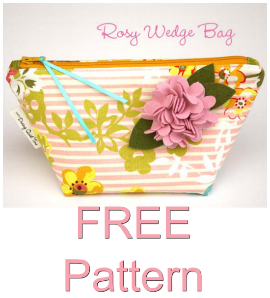 Rosy Wedge Bag FREE sewing pattern