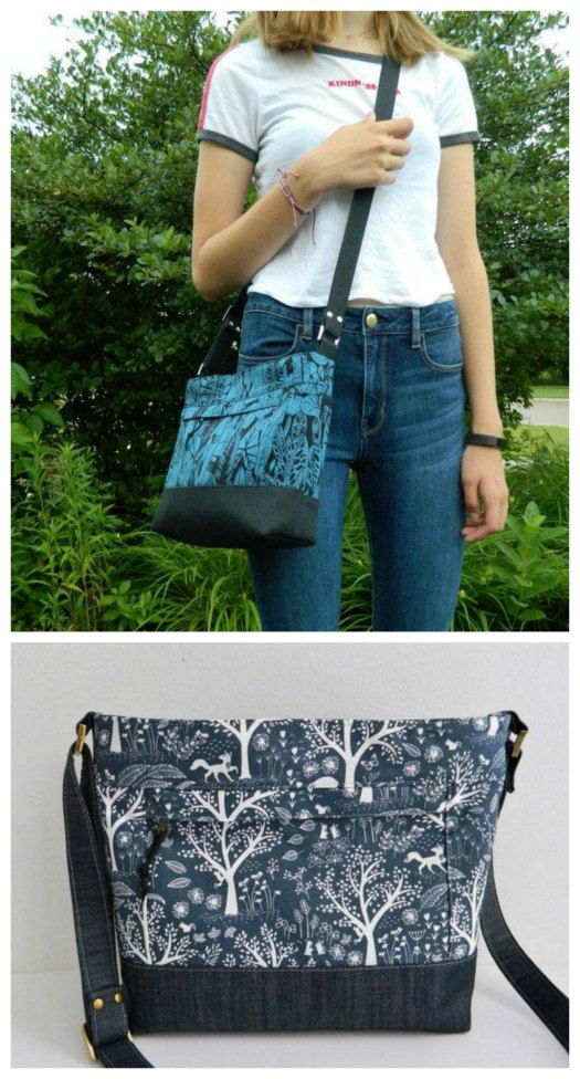 "If you want to make yourself a beautiful bag then the Luisa Crossbody bag is an awesome pattern to download. You can create your own beautiful everyday purse which when finished measures approximately 10"" wide by 9"" tall by 3"" deep."