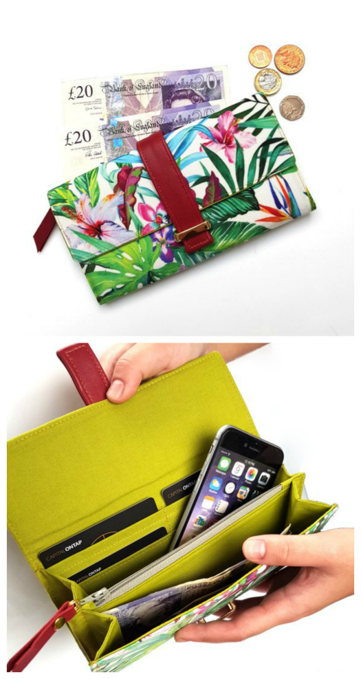 Worsley Wallet - accordion wallet and coin purse sewing pattern