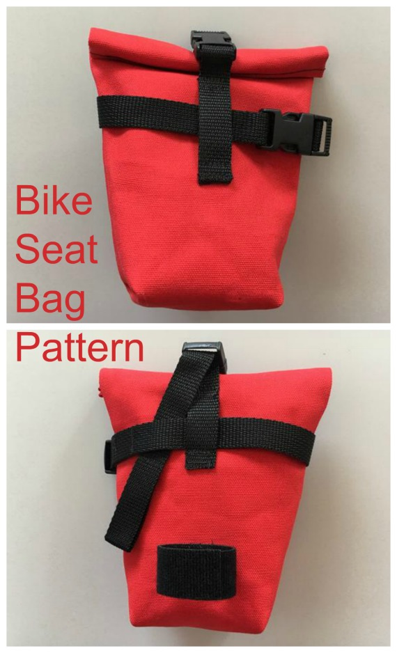 If you know any cyclists who would like a bike seat bag, which sits underneath the seat, then this designer has produced a great value pattern and even better the designer has produced full instructions on how to sew the bag on a video.