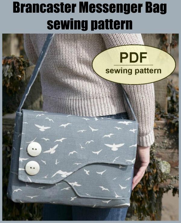 Brancaster Messenger Bag sewing pattern