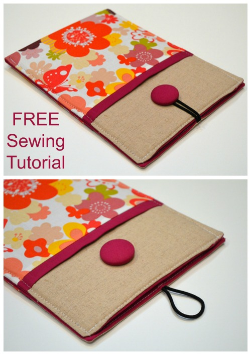 This designer made this FREE tutorial and pattern for an E-Reader or tablet sleeve for sewers who wanted to make one/ some as gifts. However, if you wish to make one just for yourself then go ahead.