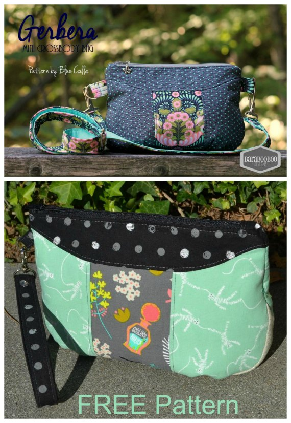 The Gerbera Wristlet FREE sewing pattern