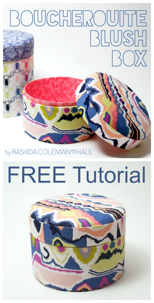 Fabric Covered Padded Boxes FREE sewing tutorial
