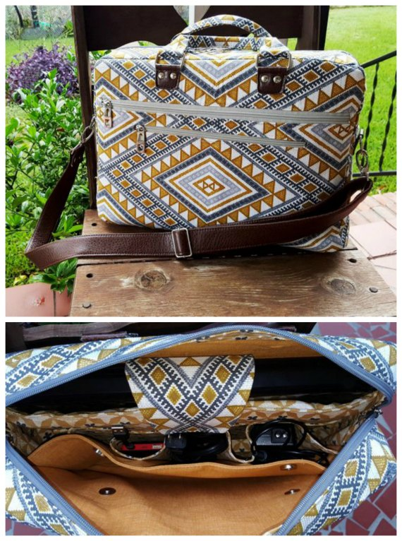 Percival Laptop Briefcase Bag pattern