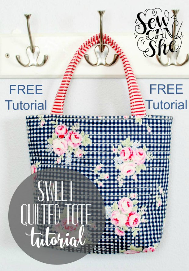Sweet Quilted Tote Bag Free Tutorial