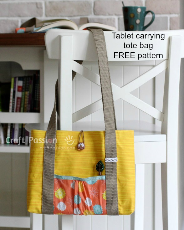 Tablet Carrying Tote Bag - FREE sewing pattern