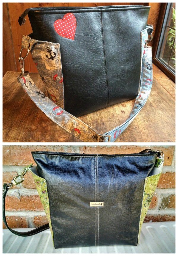 "Here's a great looking classy bag called The Ellen's Esplanade Cross Body Bag. This designer has produced a number of projects which are in her words ""Rated Easy Street"" meaning they are a quick and easy bag project. The Ellen's Esplanade Cross Body Bag features two handy exterior side slip pockets for your phone and keys with the main compartment closing with a recessed zipper. Inside you will find a spacious interior which includes a zipper pocket."
