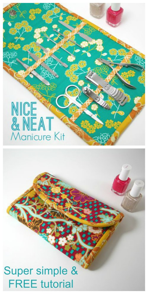 Nice and neat manicure kit - FREE sewing pattern