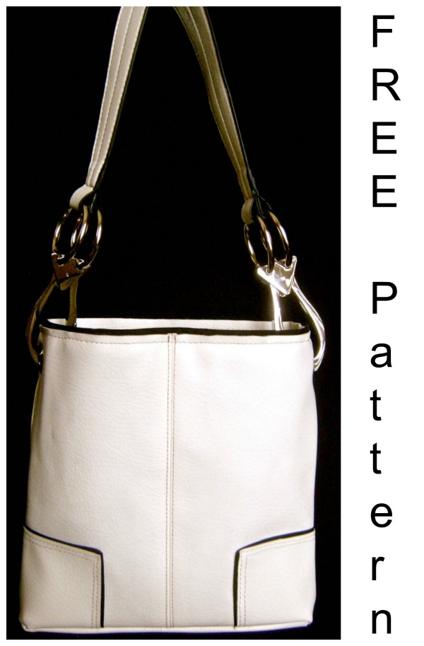 Here's a FREE pattern and tutorial for a really amazing looking purse, it's called the Mini Me White Purse. The designer originally saw and purchased a wonderful purse with chunky silver strap hardware, black trim and gold topstitching. The bag she purchased was a great size for travel but she wished it was smaller, something that she might be able to use every day.