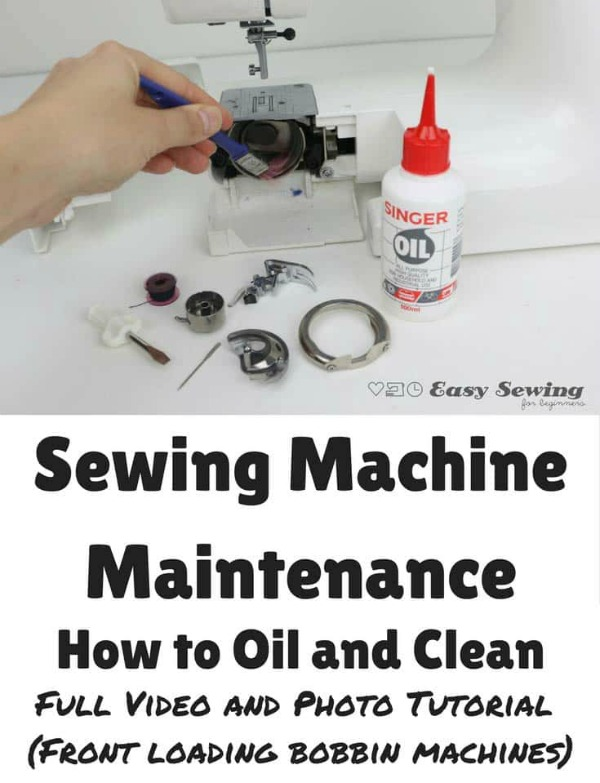 Watch this video and see How to oil and clean a front loading sewing machine