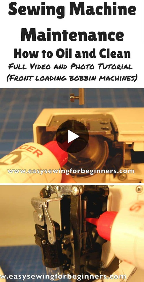 Sewing Machine Maintenance How to Oil and Clean video tutorial for front loading bobbin sewing machines 2