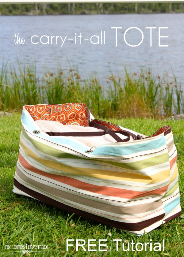 At SewModernBags we are always looking out for FREE patterns and tutorials and now and again we find one from a designer which is absolutely fabulous. The Carry It All Tote Bag is one of those tutorials. The designer has clearly spent many many hours of her time on the tutorial and the photos are awesome. This is the perfect bag to make your beach and pool days a lot easier. This super-sized tote will carry everything you and your young ones want to take.