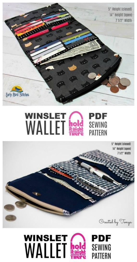 Winslet Tri-fold Wallet sewing pattern