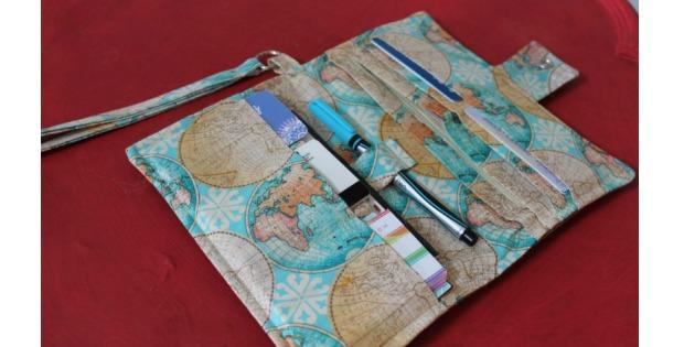 World Traveler Bi-Fold Passport Wristlet Wallet Sewing Video