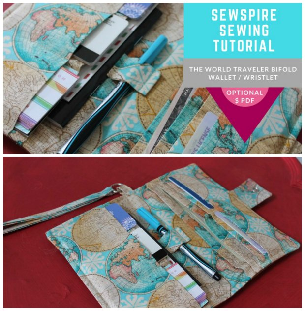 This experienced designer shows you how to make her World Traveler Bi-Fold Passport Wristlet Wallet with a FREE 16 minute YouTube video, which you will find the link for below. She had been yearning to design a wallet like this for many years and now here it is.