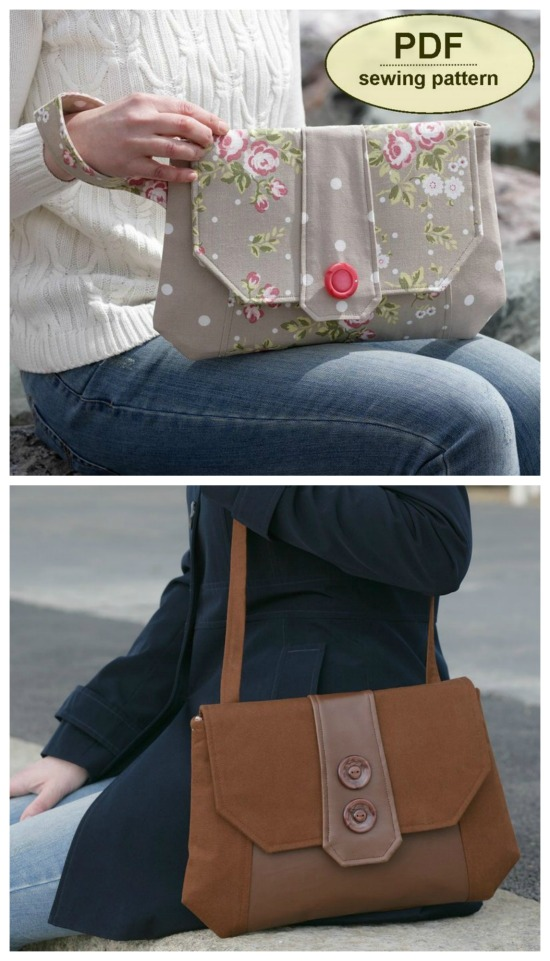 Chattisham Clutch Bag sewing pattern