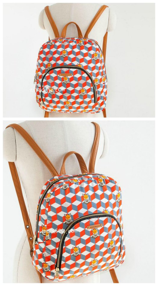 The designer of The Kalani Backpack brings you a digital pattern that is a great project suitable for a confident beginner. This charming backpack can be made in lots of different kinds of material including leather, suede, or any common cotton fabric. This medium-sized backpack with its very stylish look will make the ideal sized bag for your everyday use. The Kalani Backpack is both trendy and practical and with its big pocket, it means you can carry all sorts of your things with room to spare.