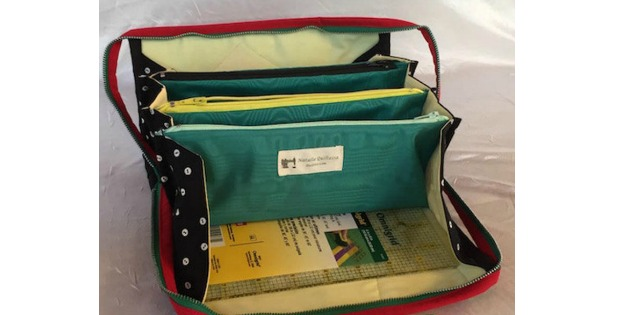 Small Sewing Bag tutorial with flying pockets pattern - Sew