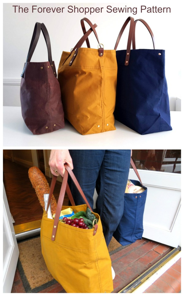 Here's the Forever Shopper Sewing Pattern which is great for both men and women and actually comes in 2 sizes, with the second smaller sized bag being free. This is a proper retro shopper bag like the good old days. A bag that will last for years and age beautifully and put an end to wasting money and the planet's resources on disposable bags. We love this designer. Her patterns and tutorials are always professional, concise and very well written.