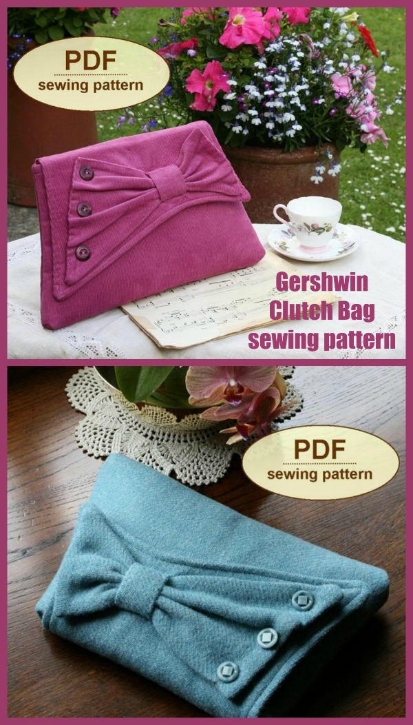 Gershwin Clutch Bag sewing pattern