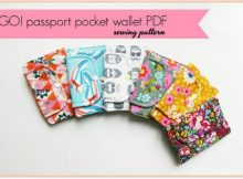 Here's the Go! Passport Pocket Wallet. This wonderful sewing pattern makes a wallet that is intended for travel as it has space to carry your passport, however, it is equally at home in your everyday purse with space for cards, coins and notes.