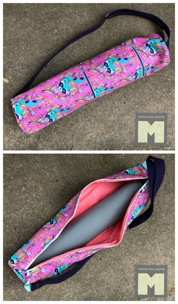 If you want to make a fantastic bag for your yoga mat then here is the Bliss Yoga bag sewing pattern. The designer has given you a pattern to sew a zippered yoga bag with three different version possibilities, depending on your time and skill level.
