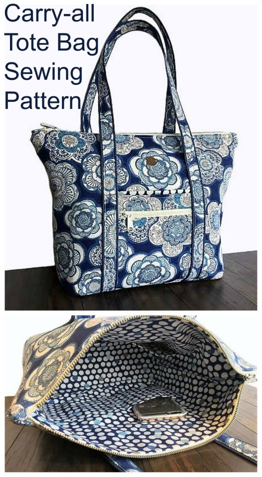 Carry-all Tote Bag sewing pattern