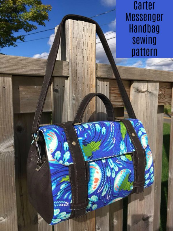 Carter Messenger Handbag sewing pattern