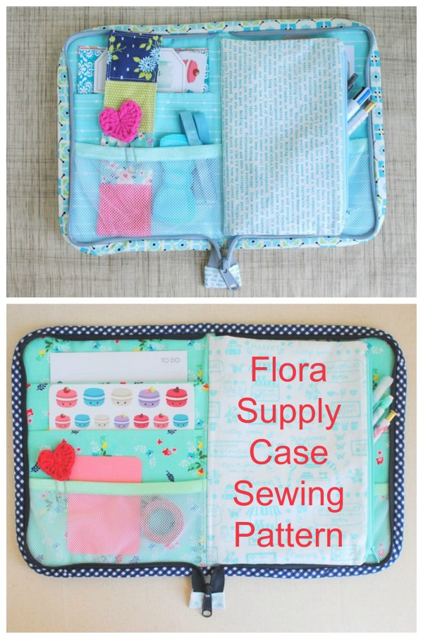 "When you are out and about or travelling isn't it great to have a quality accessory to carry and organise all your crafty or planner supplies. This fabulous designer has made the ""Flora Supply Case"" pattern to meet your needs and she has made it in three different sizes - small, medium and large."