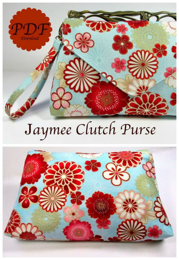 What a fabulous sewing pattern this is for the Jaymee Clutch Purse.  A person who has basic sewing skills can complete this bag. The designer calls it a beginner plus project.