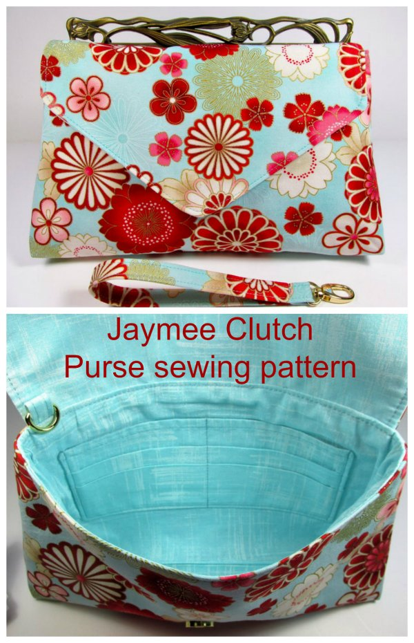 What a fabulous digital sewing pattern this is for the Jaymee Clutch Purse.  A person who has basic sewing skills can complete this bag. The designer calls it a beginner plus project.