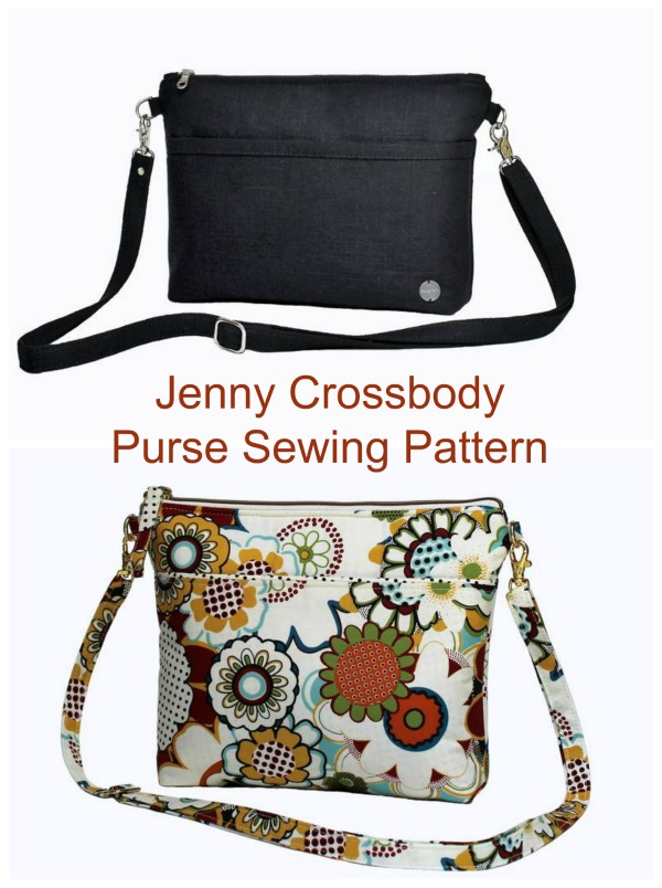 The Jenny Crossbody Bag (pattern) is a classic purse design which has a large outside pocket with banding and many inside pockets that you can customize to fit your needs. The pattern includes pockets for credit cards, cell phone, pens/lipgloss, and more.