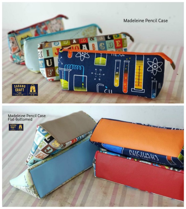 The gifted designer of this latest sewing project named her creation the Madeleine Pouch. She has produced two patterns for the price of one. One pattern will make a pencil case while the second pattern will make a cosmetics bag. The pouches are both simple and quick to make and can be made by all bag makers.